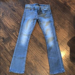 Express light wash barely bootcut wash jean size 2